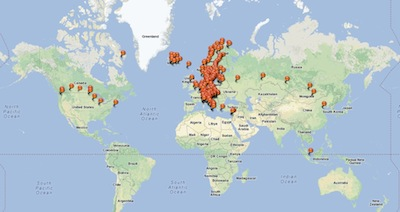 GGs travel map
